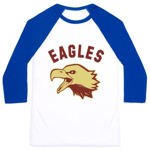 Eagles Maroon and Gold Baseball Tee