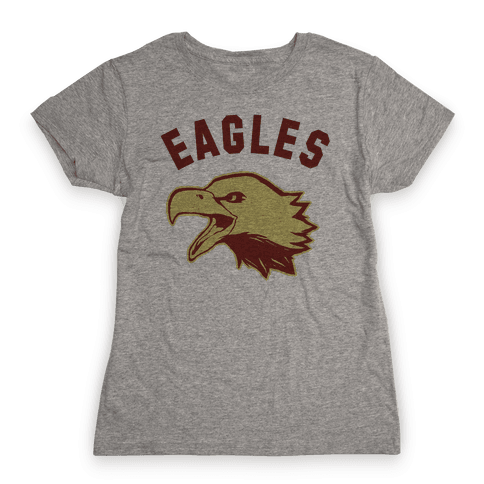 Eagles Maroon and Gold Womens T-Shirt