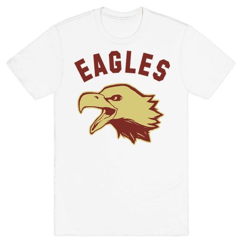 Eagles Maroon and Gold Mens T-Shirt