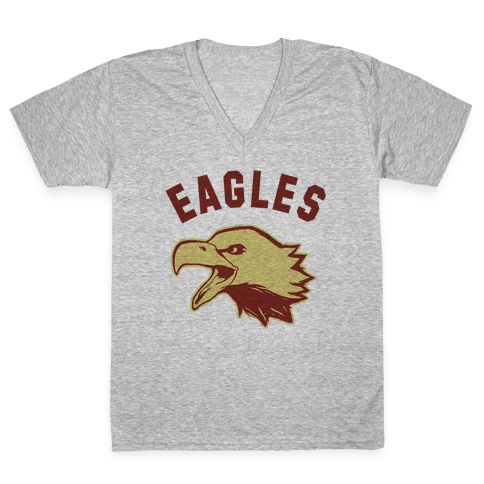 Eagles Maroon and Gold V-Neck Tee Shirt