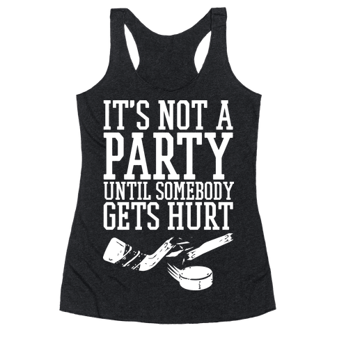 Hockey Party Racerback Tank Top