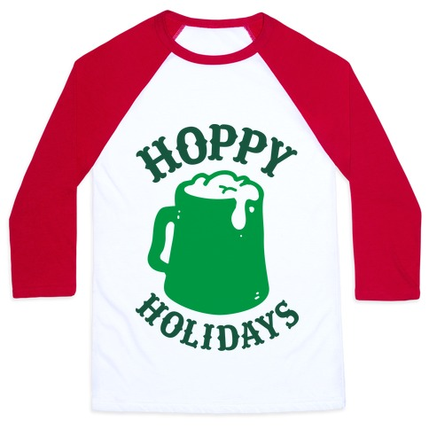 Hoppy Holidays Baseball Tee