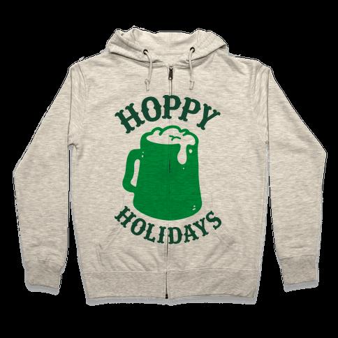 Hoppy Holidays Zip Hoodie