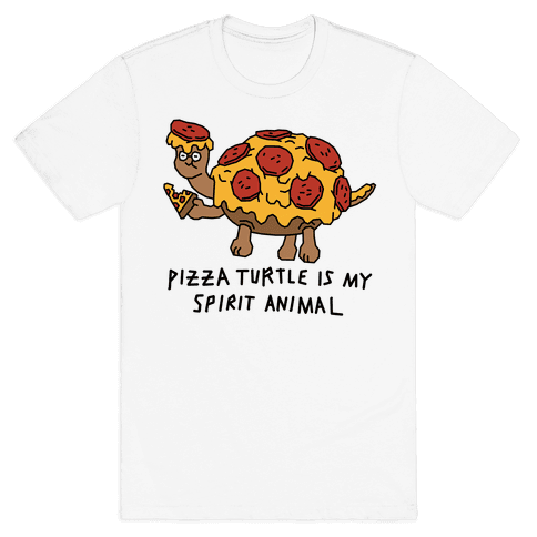 Pizza Turtle Is My Spirit Animal Mens T-Shirt