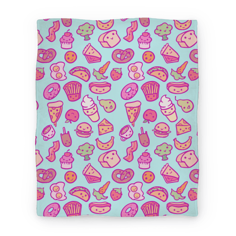 Cute Foods Blanket Blanket