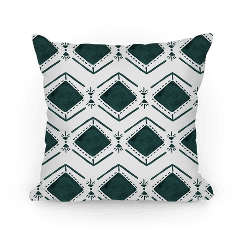 Black and White Watercolor Tribal Pattern Pillow
