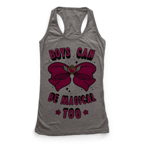 Boys Can Be Magical Too Racerback Tank Top