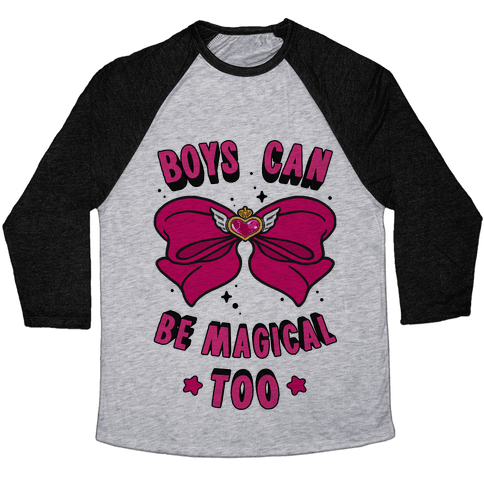 Boys Can Be Magical Too Baseball Tee