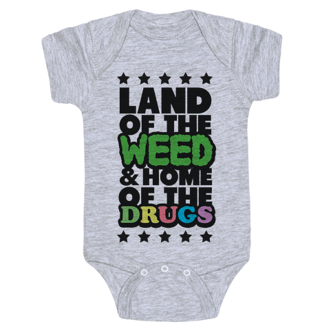 Land of the Weed Baby Onesy