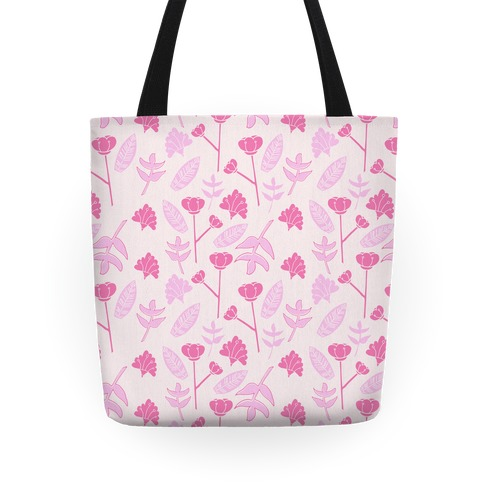 Floral Pattern (Pink) Tote