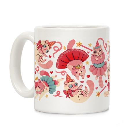 Cute Princess Cat Pattern Coffee Mug