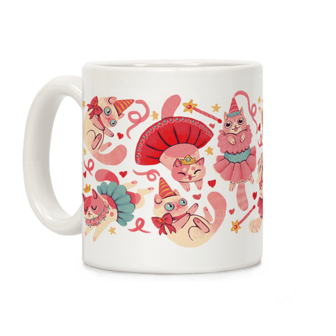 Cute Princess Cat Pattern Coffee Mug