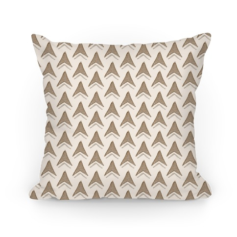 Brown Arrow Pattern Pillow