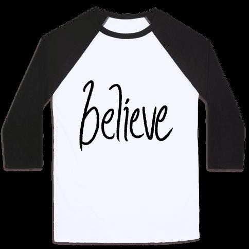 Believe Baseball Tee