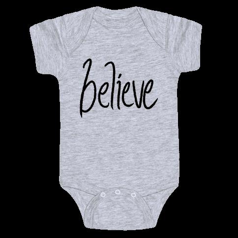 Believe Baby Onesy