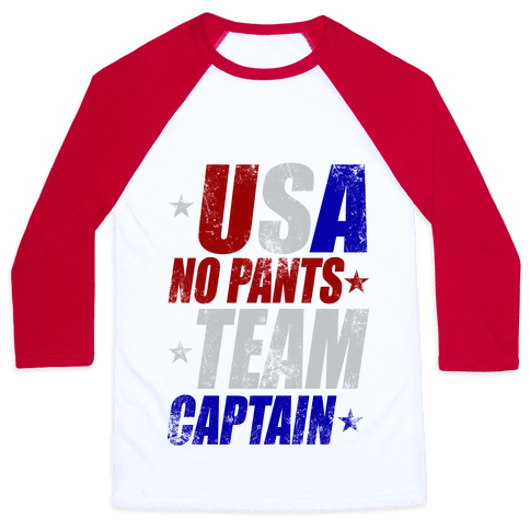 USA No Pants Team Captain Baseball Tee