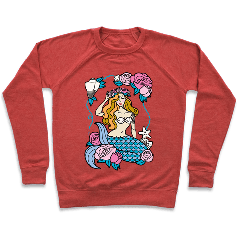 Nautical Tattoo Mermaid Pullover