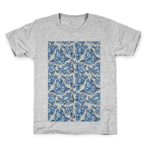 Floral Penis Pattern Kids T-Shirt