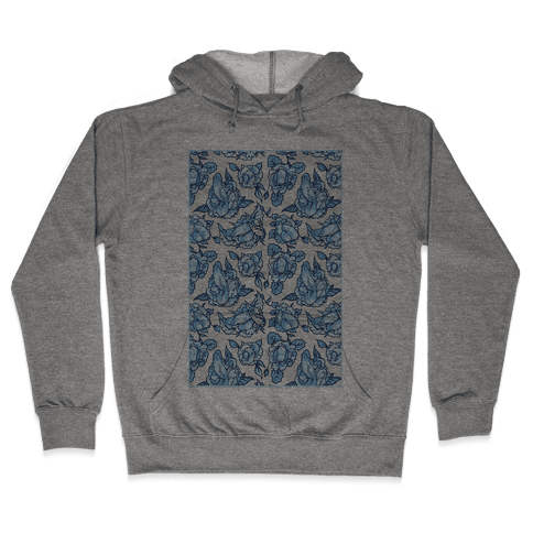 Floral Penis Pattern Hooded Sweatshirt
