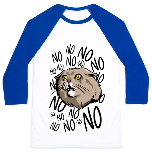 No No No! Cat Baseball Tee