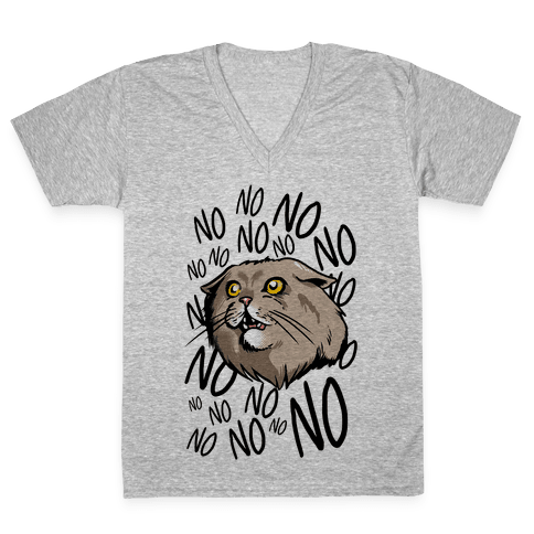 No No No! Cat V-Neck Tee Shirt