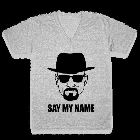 Say My Name V-Neck Tee Shirt