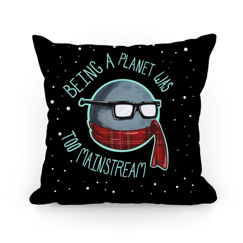 Hipster Pluto Pillow