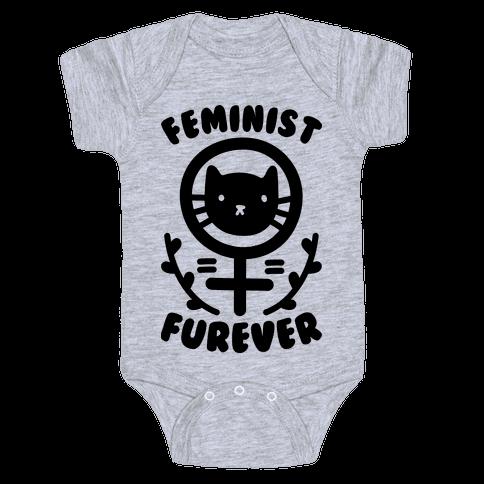 Feminist Furever Baby Onesy