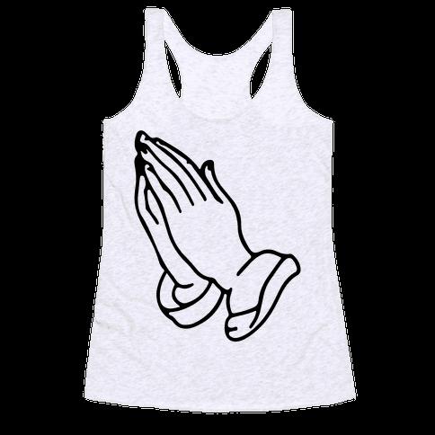 Pray Emoji Racerback Tank Top