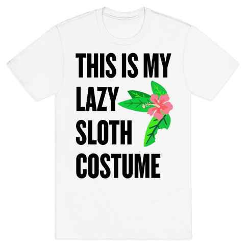 Lazy Sloth Costume Mens T-Shirt