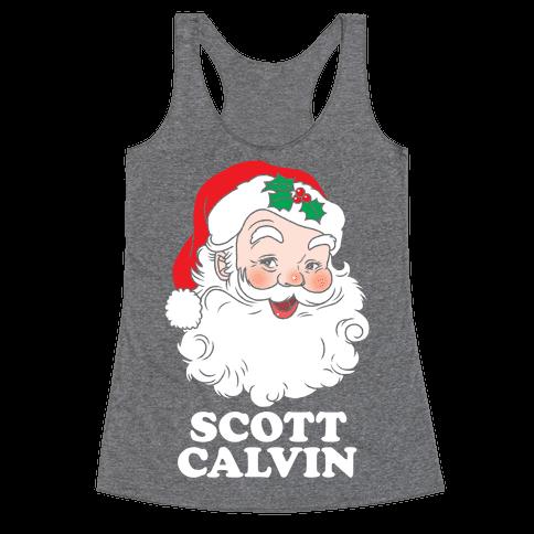 Scott Calvin Is Santa Racerback Tank Top