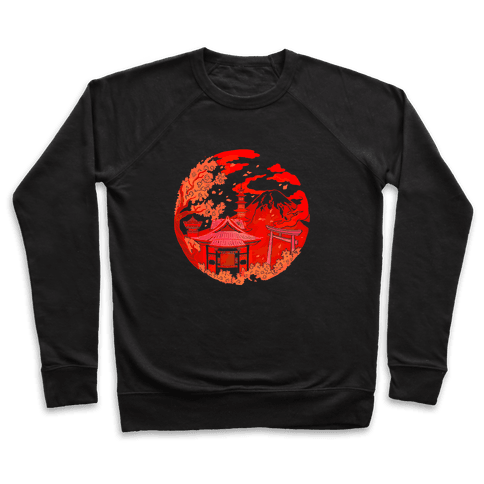 Japan's Mount Fuji and Shinto Shrines Inside the Rising Sun Pullover