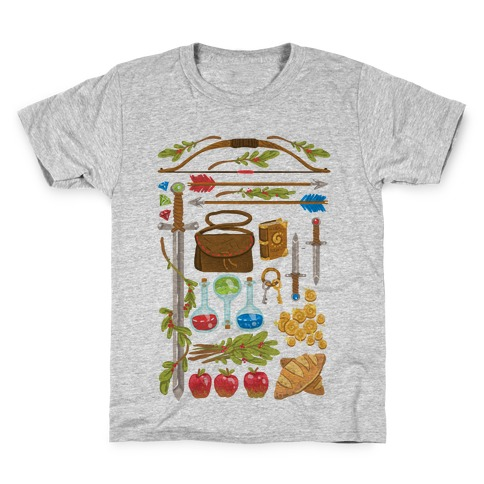 Fantasy RPG Adventurer Kit Kids T-Shirt