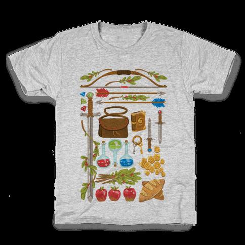 Fantasy RPG Adventurer Kit Kids T-Shirt