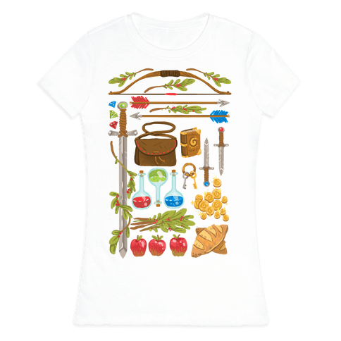 Fantasy RPG Adventurer Kit Womens T-Shirt