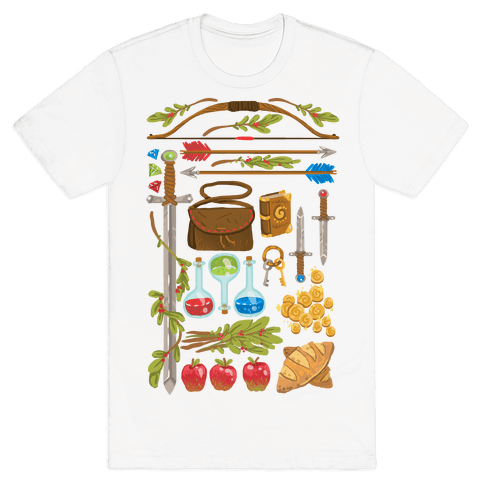 Fantasy RPG Adventurer Kit Mens T-Shirt