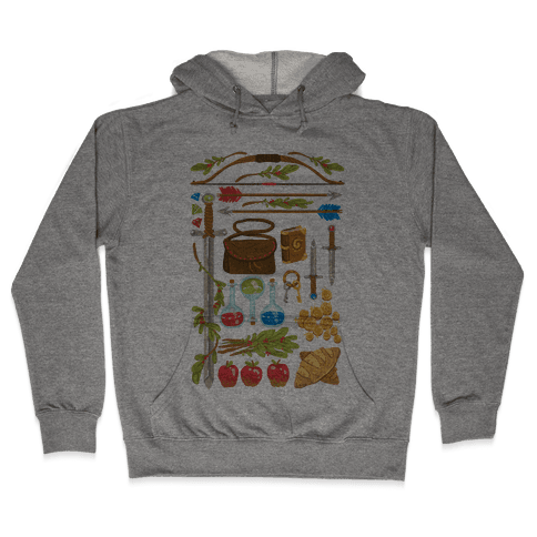 Fantasy RPG Adventurer Kit Hooded Sweatshirt