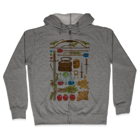 Fantasy RPG Adventurer Kit Zip Hoodie
