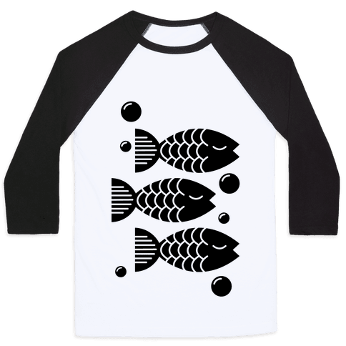 Geometric Fish Baseball Tee