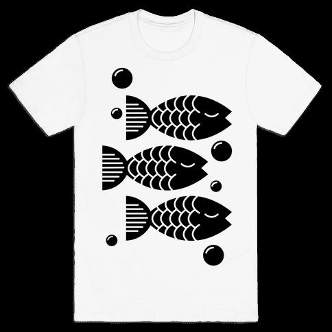 Geometric Fish Mens T-Shirt