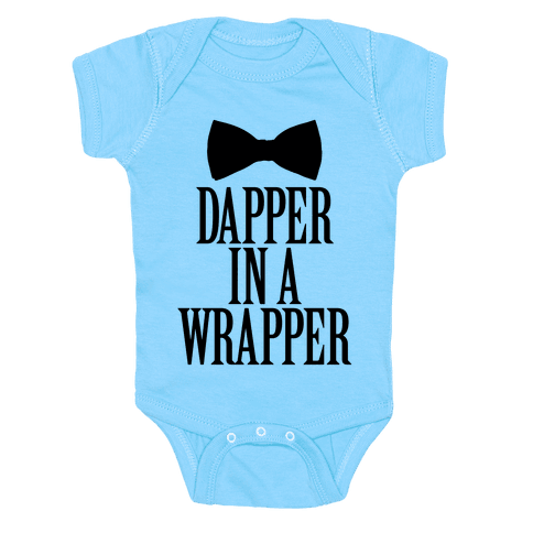 Dapper In A Wrapper Baby Onesy