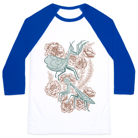 Praying Mantis Baseball Tee