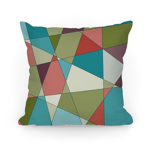 Geometric Mosaic Pattern Pillow
