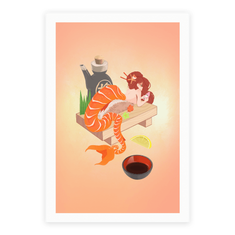 Mermaid Sushi Poster