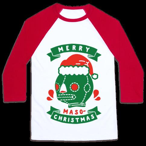 Merry Masochist Christmas Baseball Tee