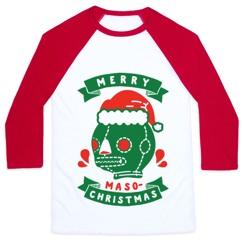 Merry Masochist Christmas Baseball Tee