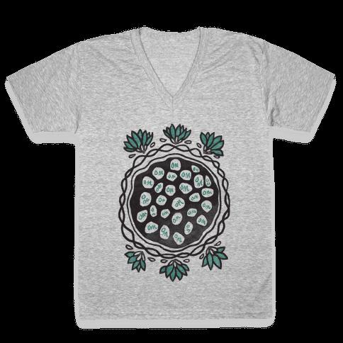 Om Lotus V-Neck Tee Shirt
