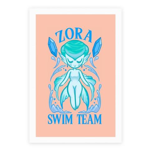 Zora Swim Team Parody Poster