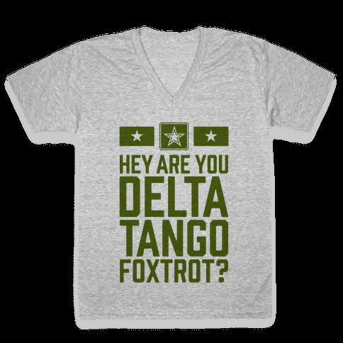 Delta Tango Foxtrot (Army) V-Neck Tee Shirt