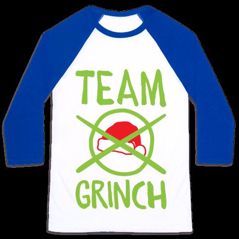 Team Grinch Baseball Tee